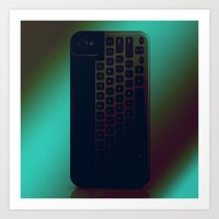Brushed Metal Keyboard Art Print