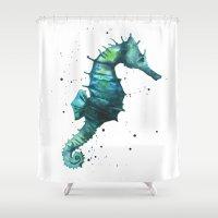 Seahorse Print, Seahorse… Shower Curtain