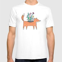 Flora and Fauna Mens Fitted Tee White SMALL