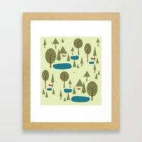 Fox in the Forest Framed Art Print