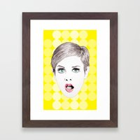 twiggy Framed Art Print