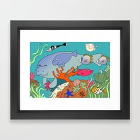 Manatee Framed Art Print