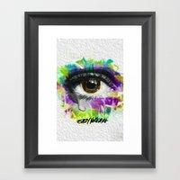 Eye Wipe Every Tear Framed Art Print