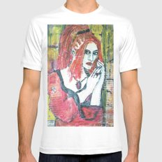 RED HOT GOTH CHICK Mens Fitted Tee SMALL White