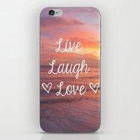 Live Laugh Love - Beach iPhone & iPod Skin