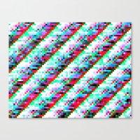 filtered diagonals Canvas Print