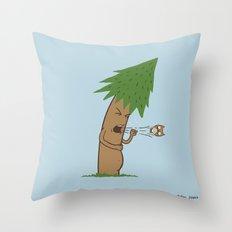 Tree Cough Throw Pillow
