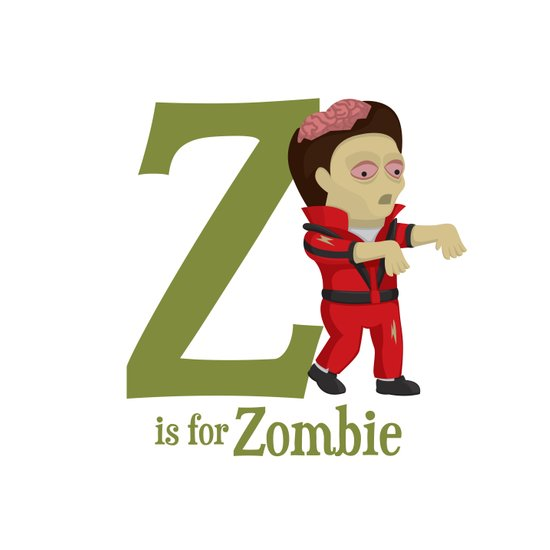 Z is for Zombie Art Print