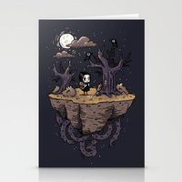 Dark Wood Stationery Cards