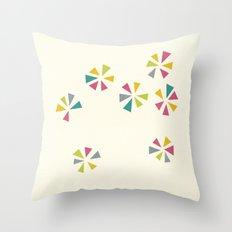 Colour Wheels Throw Pillow