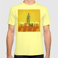 Lando at the Partay Mens Fitted Tee Lemon SMALL