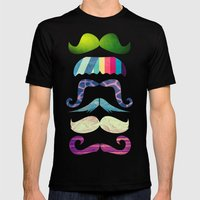 Mustache BOOM Mens Fitted Tee Black SMALL
