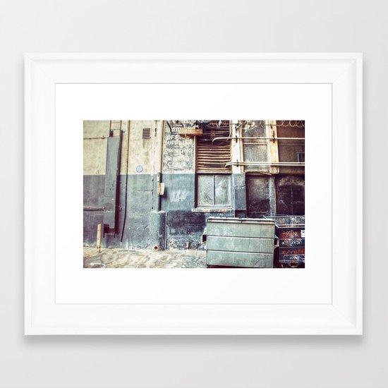 Alley ''97 Framed Art Print