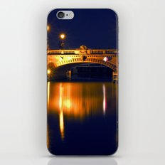 Nocturnal Lights on the river Spree in Berlin iPhone & iPod Skin