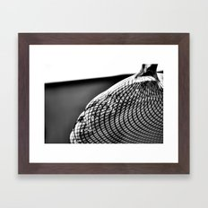 Stripe-ed Framed Art Print