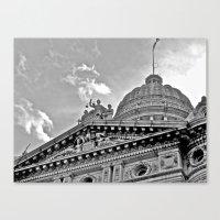Court House B & W Canvas Print