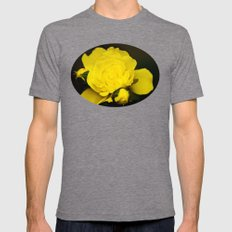 Yellow Rose Mens Fitted Tee Tri-Grey SMALL