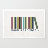 Good Readings Are Pricel… Canvas Print