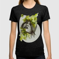 Eva By Carographic, Caro… Womens Fitted Tee Tri-Black SMALL