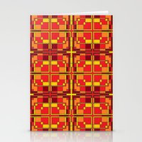 Red And Yellow Cross Pat… Stationery Cards