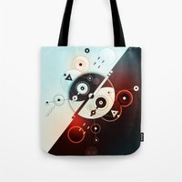 Ying-Yang Blue Version Tote Bag