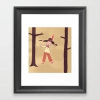 Dancing Indian  Framed Art Print