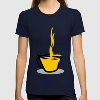 Coffee Womens Fitted Tee Navy SMALL