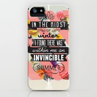 iPhone 5s & iPhone 5 Cases featuring The Invincible Summer by Kavan and Co