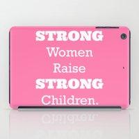 Strong Women - Pink.  iPad Case