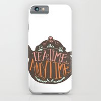 iPhone & iPod Case featuring TEA TIME. ANY TIME. - color by Matthew Taylor Wilson