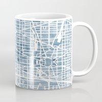 Washington DC Blueprint watercolor map Mug