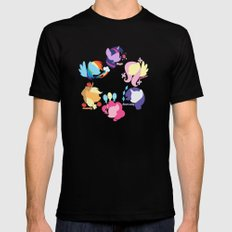 Mane Six Black Mens Fitted Tee SMALL