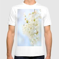 Spring Flowers  Mens Fitted Tee White SMALL