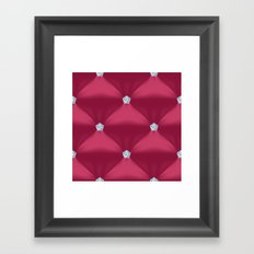 Abstract Red Violet Quil… Framed Art Print