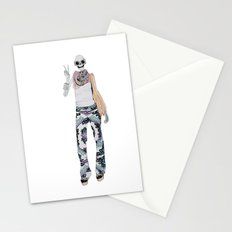 peace sign skeleton Stationery Cards