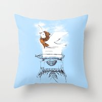 My Winter Article Throw Pillow