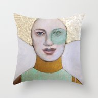Throw Pillow featuring Envy by Hinterland Girl
