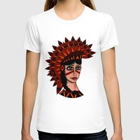 native T-shirts featuring Native by caffeboy