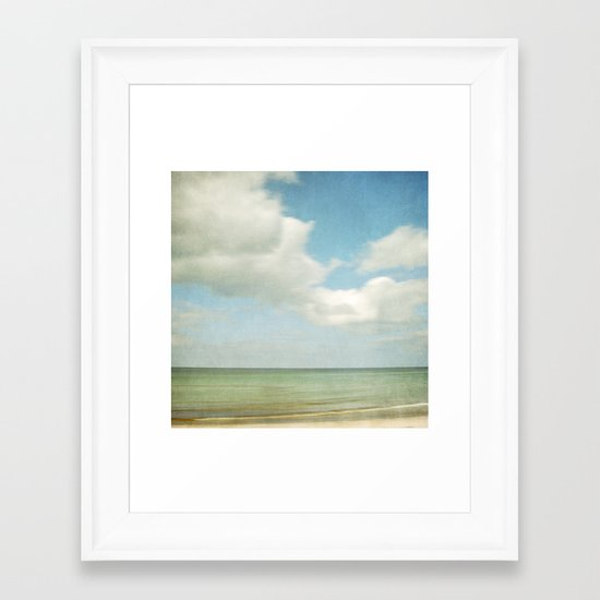 sea square IV Framed Art Print