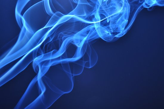 smoky blue Art Print