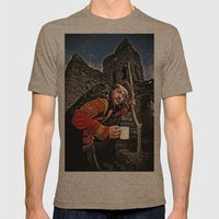 Hunchback Bam Mens Fitted Tee Tri-Coffee SMALL