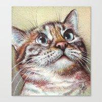 Cat Watercolor Canvas Print