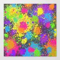 Splattah In Charcoal Canvas Print