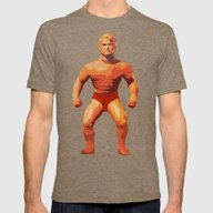 Stretch Armstrong Mens Fitted Tee Tri-Coffee SMALL