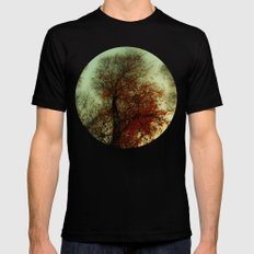 Red Leaf SMALL Mens Fitted Tee Black