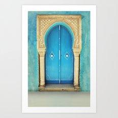 Morocco Door Art Print