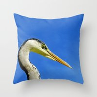 MM -  Gray Heron Throw Pillow