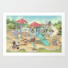 Playground Art Print