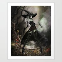 Witch Of Pendle Art Print