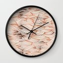 Rose Gold Waves Wall Clock
